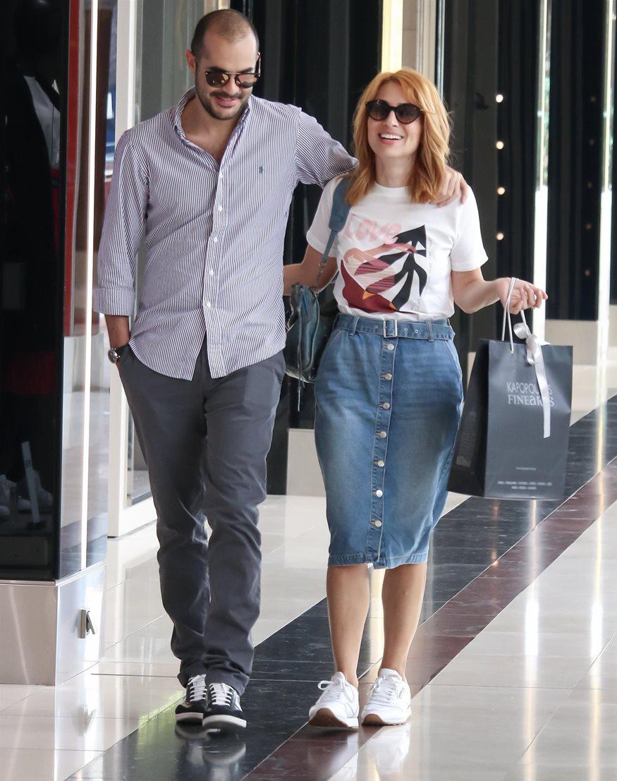 Μαρία Ηλιάκη και Στέλιος Μανουσακης στην Ελλάδα