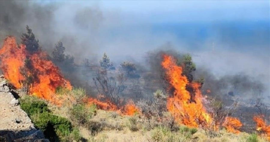 Πυρκαγιά στη Χίο
