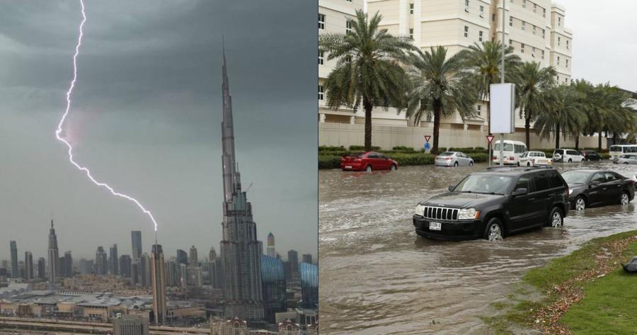 Ντουμπάι ψεύτικη βροχή