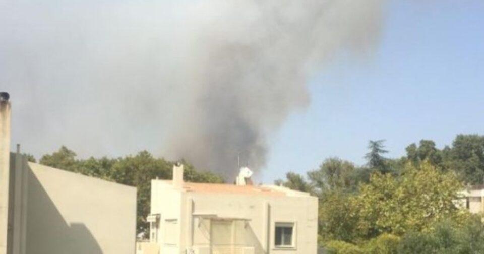 Βίντεο ντοκουμέντο από φωτιά στη Βαρυμπόμπη