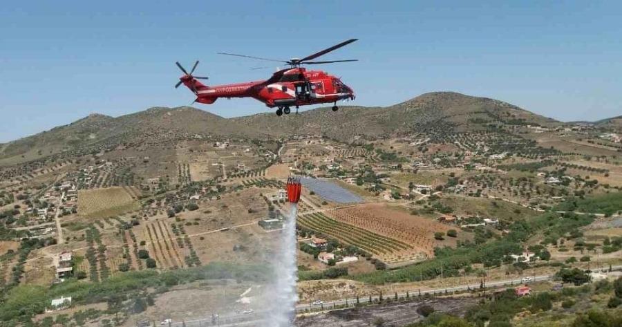Βασιλίτσι Μεσσηνίας:Εναέρια πυροσβεστικά μέσα επιχειρούν από τα ξημερώματα