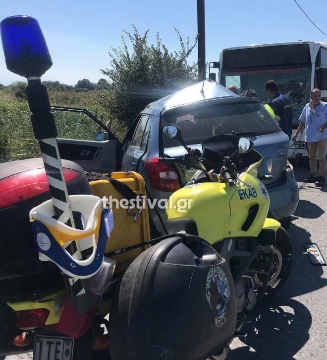 Τροχαίο δυστύχημα στη Θεσσαλονίκη