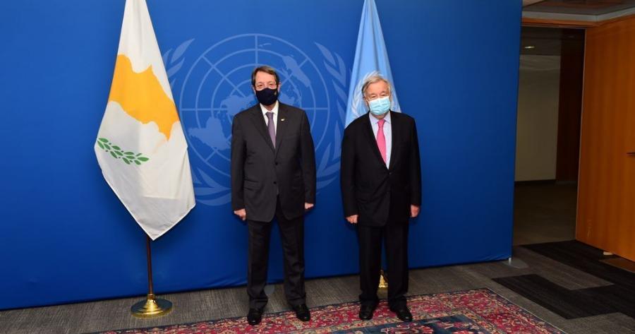 Αναστασιάδης: Συνάντηση με τον Γενικό Γραμματέα του ΟΗΕ