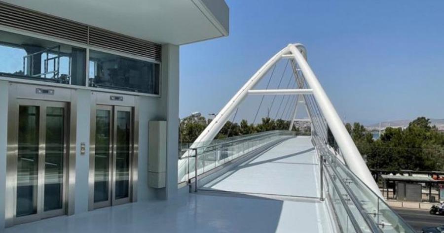 Περιφέρεια Αττικής: Παραδίδεται η πεζογέφυρα στην είσοδο της Μαρίνας Φλοίσβου επί της Ποσειδώνος