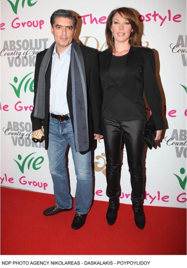 Τατιάνα Στεφανίδου σε εκδήλωση με τον σύζυγο της