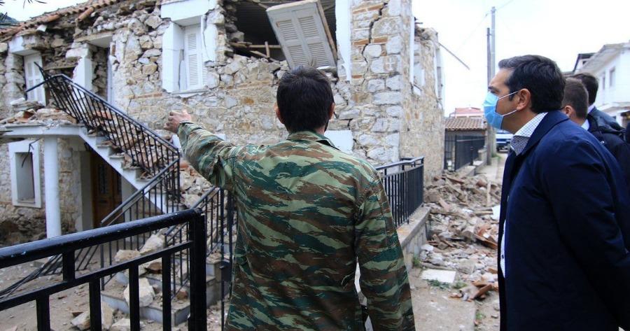 Αλέξης Τσίπρας: Επισκέφθηκε τις σεισμόπληκτες περιοχές
