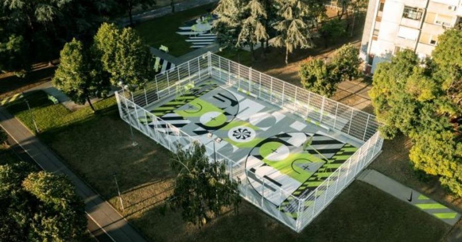 Νέο Βελιγράδι: Γήπεδο μπάσκετ από 20.000 ανακυκλωμένα αθλητικά παπούτσια