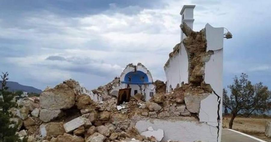 Σητεία: Κατέρρευσε ναός στον Ξερόκαμπο από τα 6,3 Ρίχτερ- Κατολισθήσεις βράχων και ζημιές σε καταστήματα